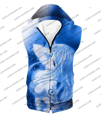 Image of One Piece Sexy Pirate Nami Of Straw Hats Cool Blue T-Shirt Op166 Hooded Tank Top / Us Xxs (Asian Xs)