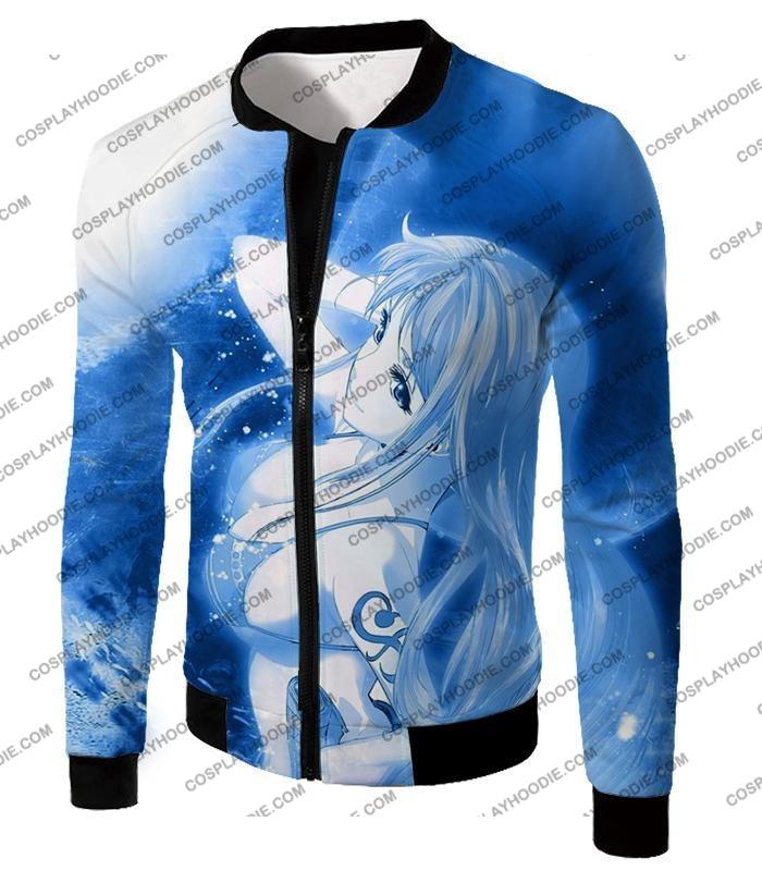 One Piece Sexy Pirate Nami Of Straw Hats Cool Blue T-Shirt Op166 Jacket / Us Xxs (Asian Xs)