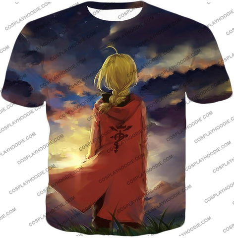 Image of Fullmetal Alchemist Best State Edward Elrich Awesome Anime Art T-Shirt Fa017 / Us Xxs (Asian Xs)