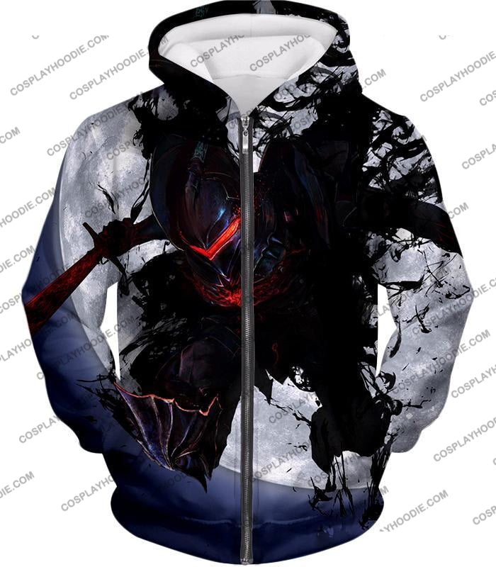 Fate Stay Night Berserker Lancelot Of The Lake Action T-Shirt Fsn017 Zip Up Hoodie / Us Xxs (Asian