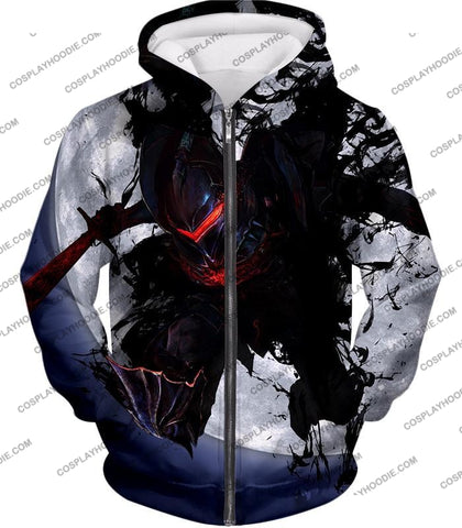 Image of Fate Stay Night Berserker Lancelot Of The Lake Action T-Shirt Fsn017 Zip Up Hoodie / Us Xxs (Asian