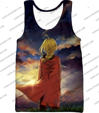 Image of Fullmetal Alchemist Best State Edward Elrich Awesome Anime Art T-Shirt Fa017 Tank Top / Us Xxs