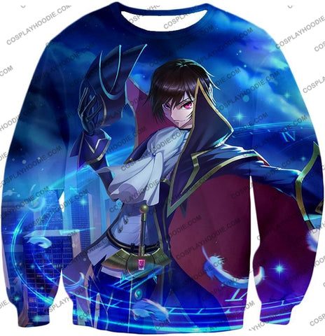 Image of The Demon Emperor Lelouch Vi Britannia Amazing Anime Action T-Shirt Cg017 Sweatshirt / Us Xxs (Asian
