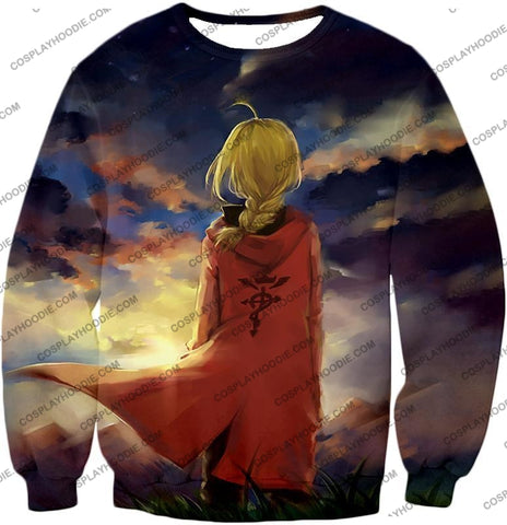 Image of Fullmetal Alchemist Best State Edward Elrich Awesome Anime Art T-Shirt Fa017 Sweatshirt / Us Xxs
