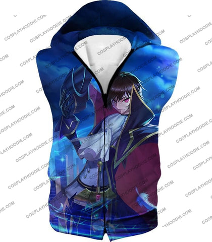 Image of The Demon Emperor Lelouch Vi Britannia Amazing Anime Action T-Shirt Cg017 Hooded Tank Top / Us Xxs