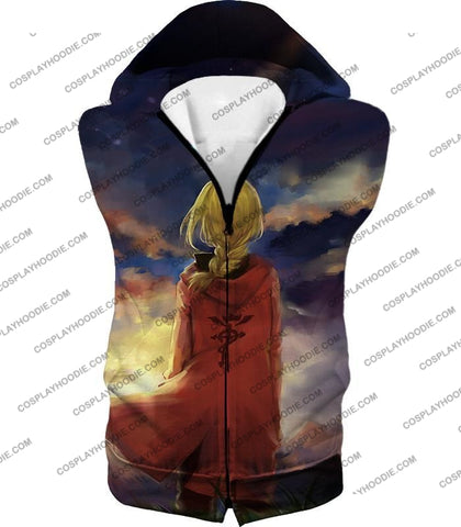 Image of Fullmetal Alchemist Best State Edward Elrich Awesome Anime Art T-Shirt Fa017 Hooded Tank Top / Us