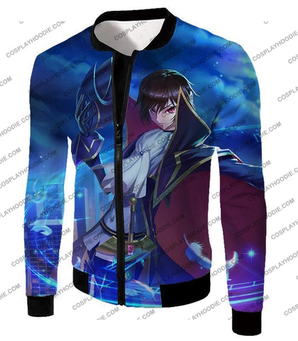 Image of The Demon Emperor Lelouch Vi Britannia Amazing Anime Action T-Shirt Cg017 Jacket / Us Xxs (Asian Xs)