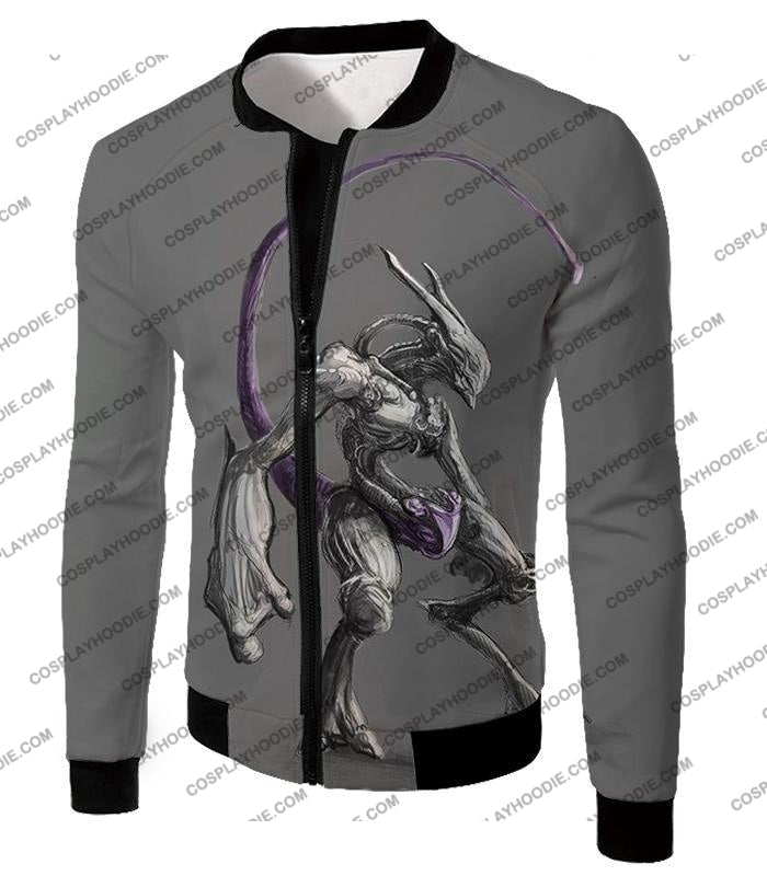 Pokemon Extremely Powerful Psychic Mewto Cool Grey T-Shirt Pkm017 Jacket / Us Xxs (Asian Xs)