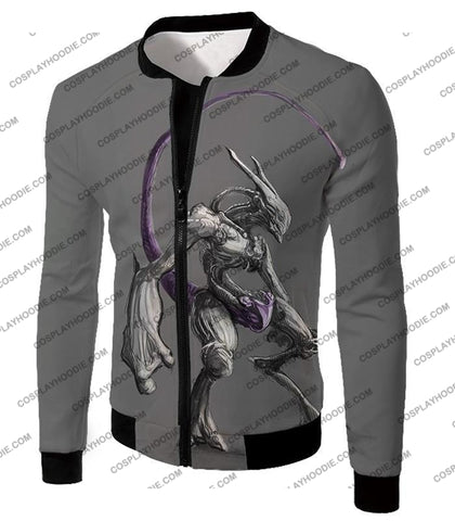 Image of Pokemon Extremely Powerful Psychic Mewto Cool Grey T-Shirt Pkm017 Jacket / Us Xxs (Asian Xs)