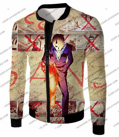 Image of One Piece Strong Straw Hat Pirate Vinsmoke Sanji Action Promo T-Shirt Op175 - Jacket / Us Xxs (Asian Xs) - T-Shirt