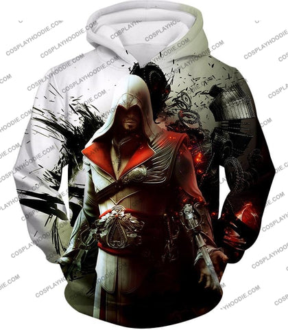 Image of Awesome Assassin Ezio Firenze Super Cool Graphic Promo T-Shirt Ac018 Hoodie / Us Xxs (Asian Xs)