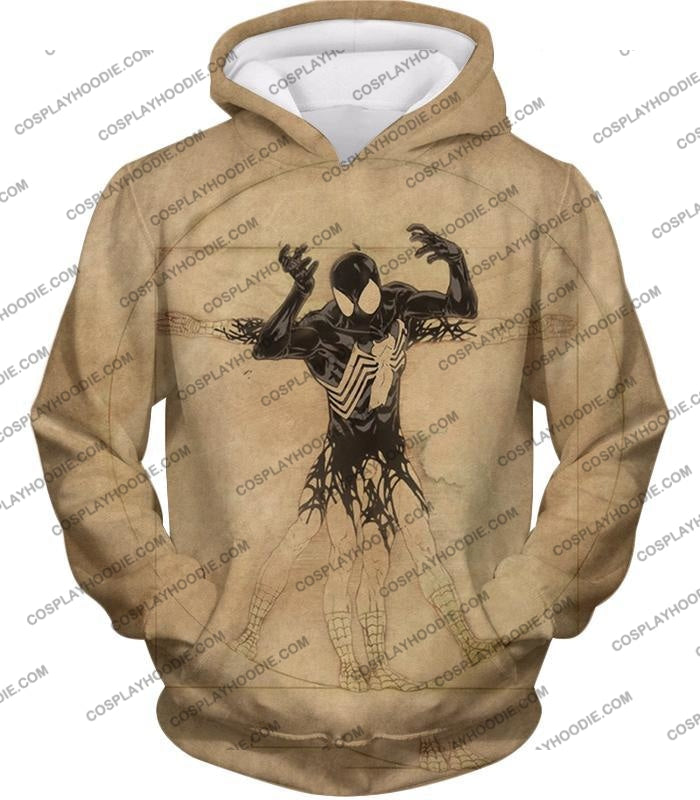 Spiderman Symbiote Bond Cool Brown T-Shirt Sp018 Hoodie / Us Xxs (Asian Xs)
