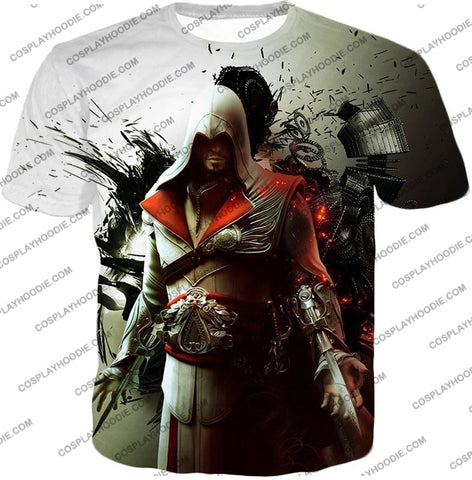 Image of Awesome Assassin Ezio Firenze Super Cool Graphic Promo T-Shirt Ac018 / Us Xxs (Asian Xs)