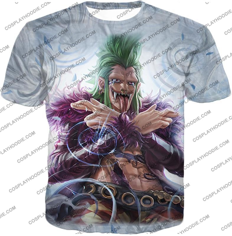 One Piece Cool Super Rookie Bartolomeo Barrier Devil Fruit Action T-Shirt Op018 / Us Xxs (Asian Xs)