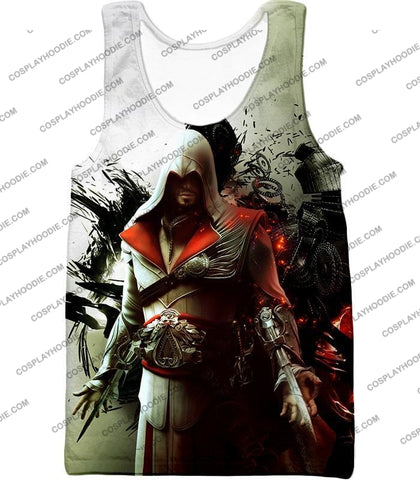 Image of Awesome Assassin Ezio Firenze Super Cool Graphic Promo T-Shirt Ac018 Tank Top / Us Xxs (Asian Xs)