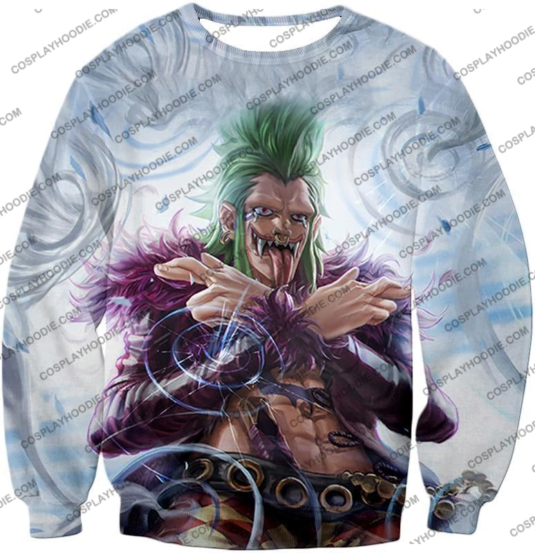 One Piece Cool Super Rookie Bartolomeo Barrier Devil Fruit Action T-Shirt Op018 Sweatshirt / Us Xxs