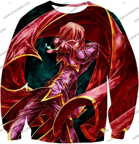 Image of The Black Prince Lelouch Vi Britannia Awesome Anime Action T-Shirt Cg018 Sweatshirt / Us Xxs (Asian