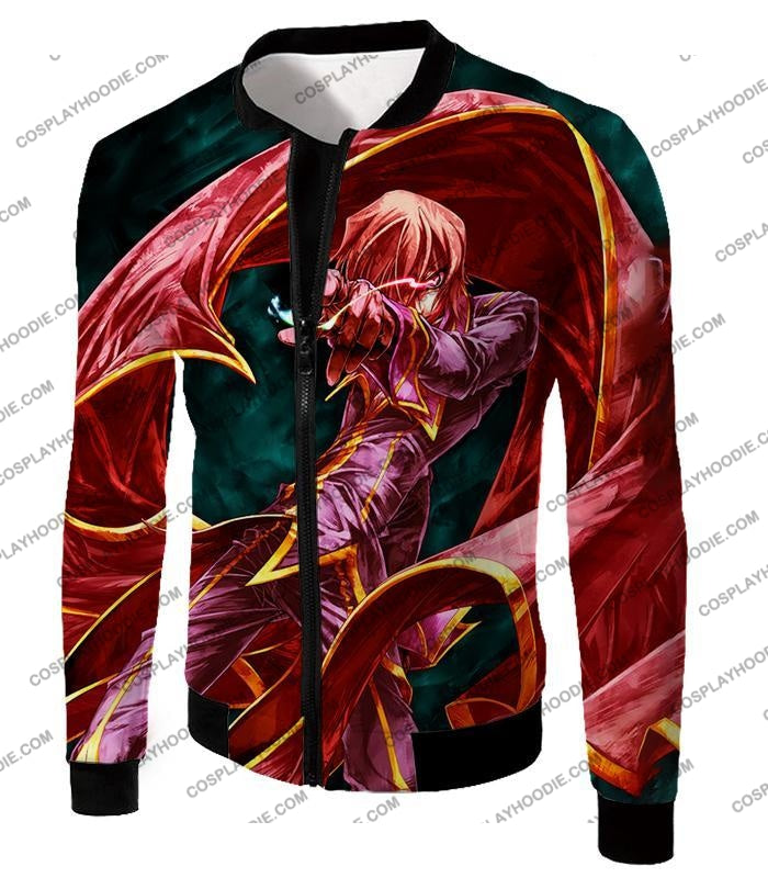 The Black Prince Lelouch Vi Britannia Awesome Anime Action T-Shirt Cg018 Jacket / Us Xxs (Asian Xs)