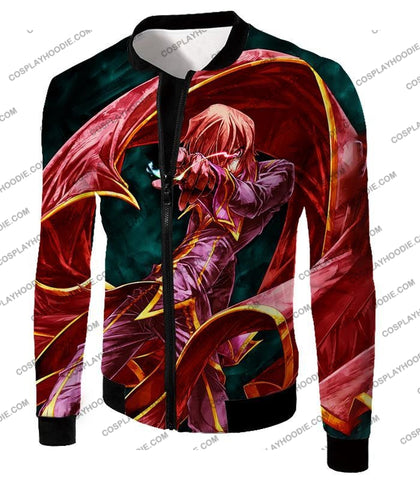 Image of The Black Prince Lelouch Vi Britannia Awesome Anime Action T-Shirt Cg018 Jacket / Us Xxs (Asian Xs)