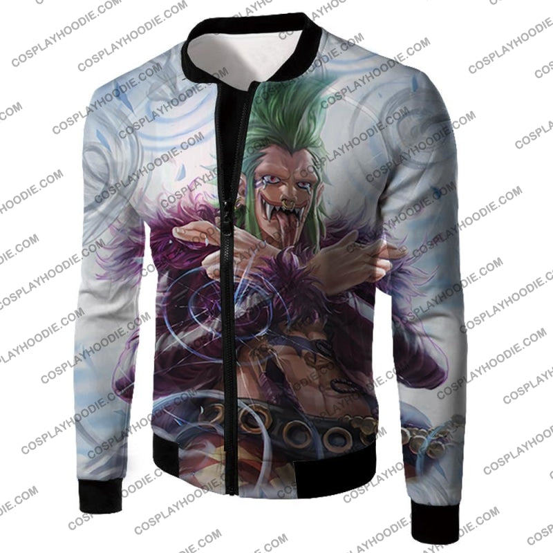 One Piece Cool Super Rookie Bartolomeo Barrier Devil Fruit Action T-Shirt Op018 Jacket / Us Xxs