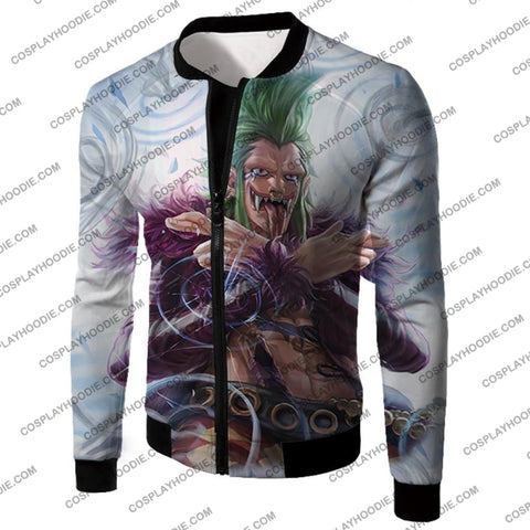 Image of One Piece Cool Super Rookie Bartolomeo Barrier Devil Fruit Action T-Shirt Op018 Jacket / Us Xxs