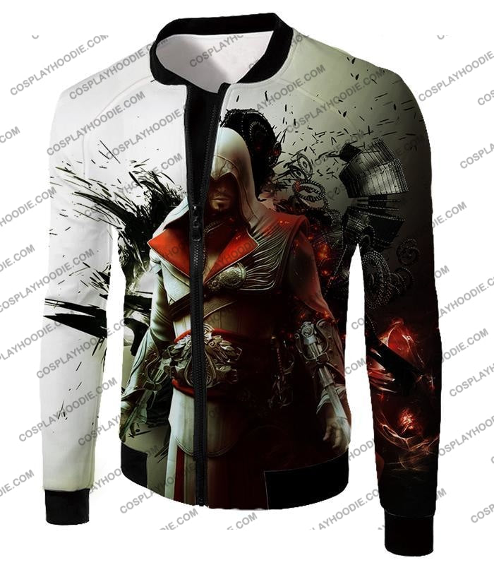 Awesome Assassin Ezio Firenze Super Cool Graphic Promo T-Shirt Ac018 Jacket / Us Xxs (Asian Xs)