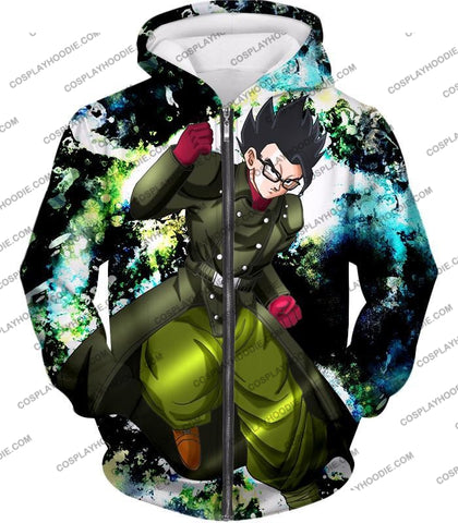 Image of Dragon Ball Super Favourite Hero Gohan Cool Action Anime Graphic T-Shirt Dbs182 Zip Up Hoodie / Us