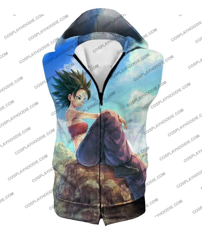 Dragon Ball Super Cool Female Universe 6 Saiyan Caulifla Awesome T-Shirt Dbs188 Hooded Tank Top / Us