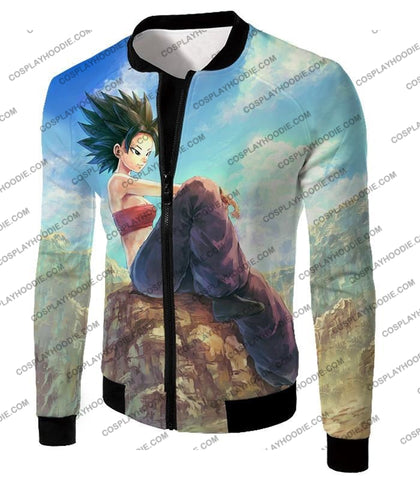Image of Dragon Ball Super Cool Female Universe 6 Saiyan Caulifla Awesome T-Shirt Dbs188 Jacket / Us Xxs