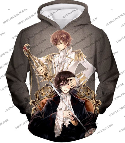 Image of Bonded By Friendship Lelouch X Suzaku Amazing Anime Promo Grey T-Shirt Cg019 Hoodie / Us Xxs (Asian