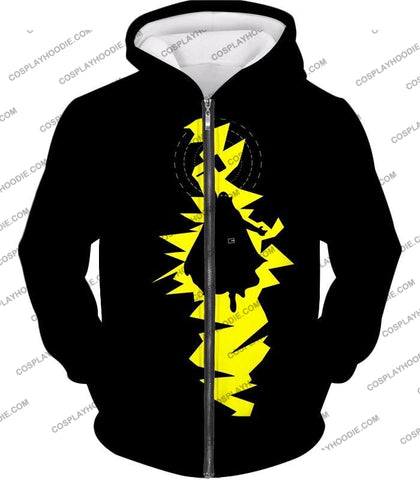 Image of Amazing Thor Thunder Action Promo Black T-Shirt Thor019 Zip Up Hoodie / Us Xxs (Asian Xs)