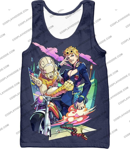 Image of Jojos Adventure C Giorno Giovanna Stand Gold Experience Action T-Shirt Jo019 Tank Top / Us Xxs