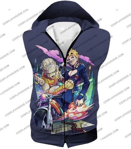 Image of Jojos Adventure C Giorno Giovanna Stand Gold Experience Action T-Shirt Jo019 Hooded Tank Top / Us