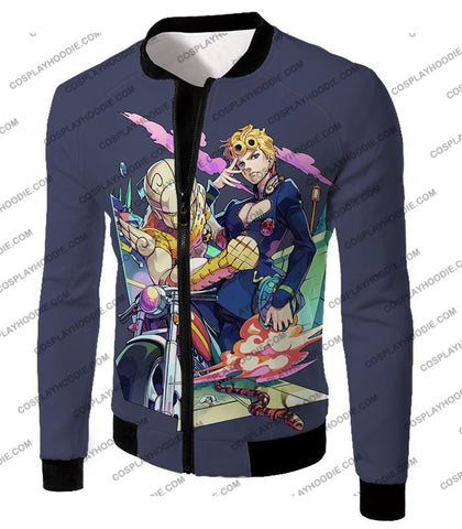Image of Jojos Adventure C Giorno Giovanna Stand Gold Experience Action T-Shirt Jo019 Jacket / Us Xxs (Asian