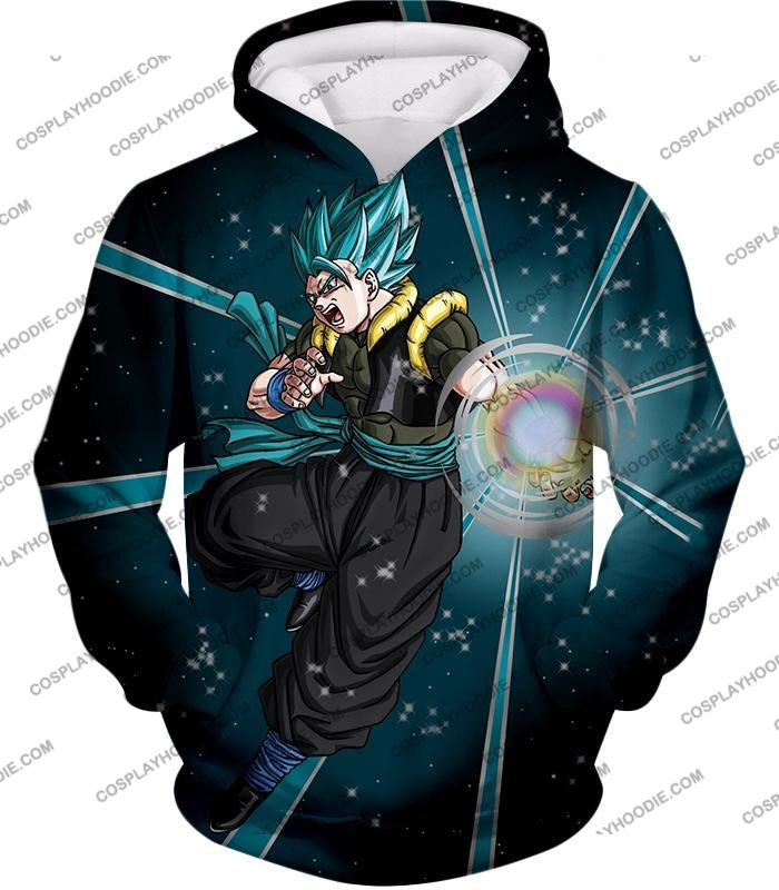 Dragon Ball Super Awesome Xeno Gogeta Saiyan Blue Cool Anime Action T-Shirt Dbs194 Hoodie / Us Xxs