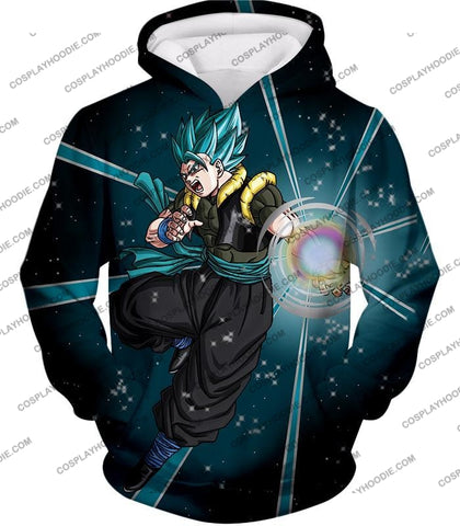 Image of Dragon Ball Super Awesome Xeno Gogeta Saiyan Blue Cool Anime Action T-Shirt Dbs194 Hoodie / Us Xxs
