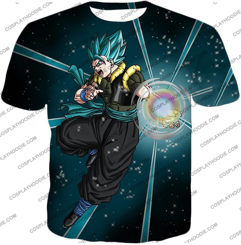 Dragon Ball Super Awesome Xeno Gogeta Saiyan Blue Cool Anime Action T-Shirt Dbs194 / Us Xxs (Asian