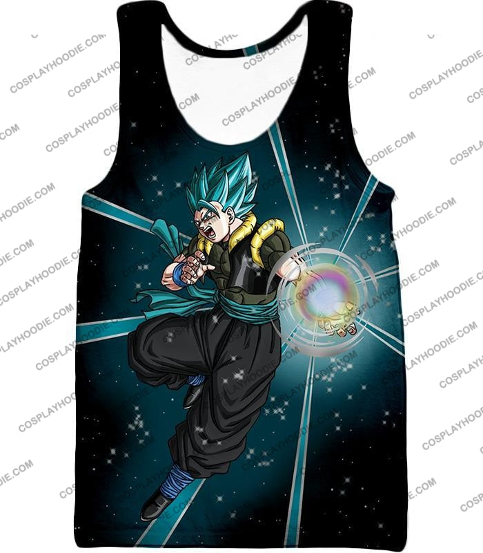 Dragon Ball Super Awesome Xeno Gogeta Saiyan Blue Cool Anime Action T-Shirt Dbs194 Tank Top / Us Xxs
