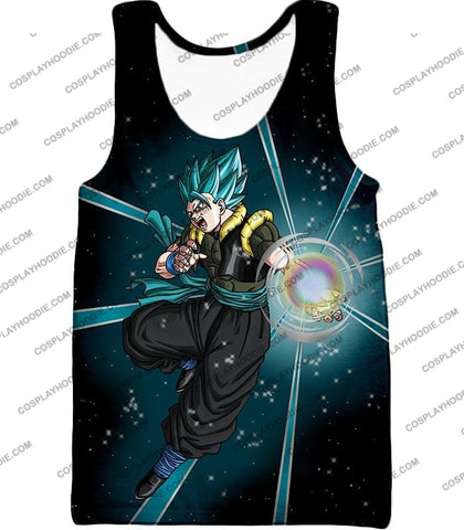 Image of Dragon Ball Super Awesome Xeno Gogeta Saiyan Blue Cool Anime Action T-Shirt Dbs194 Tank Top / Us Xxs