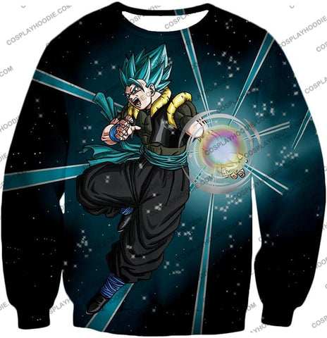 Image of Dragon Ball Super Awesome Xeno Gogeta Saiyan Blue Cool Anime Action T-Shirt Dbs194 Sweatshirt / Us