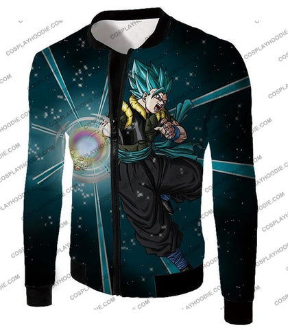 Image of Dragon Ball Super Awesome Xeno Gogeta Saiyan Blue Cool Anime Action T-Shirt Dbs194 Jacket / Us Xxs