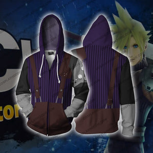 Cloud Strife Final Fantasy Vii Zip Up Hoodie Cosplay Jacket
