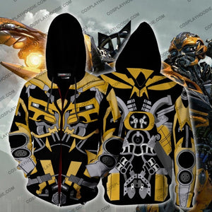 Transformers Bumblebee Hoodie Cosplay Jacket Zip Up