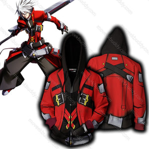 Blazblue Ragna The Bloodedge Hoodie Cosplay Jacket Zip Up / Us Xs (Asian S)