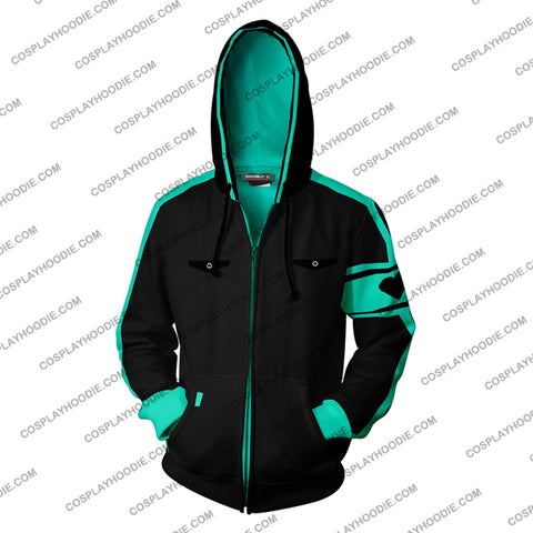 Image of Hatsune Miku Cosplay Love Is War Zip Up Hoodie Jacket