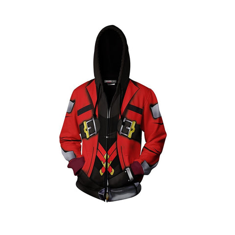 Blazblue Ragna The Bloodedge Hoodie Cosplay Jacket Zip Up