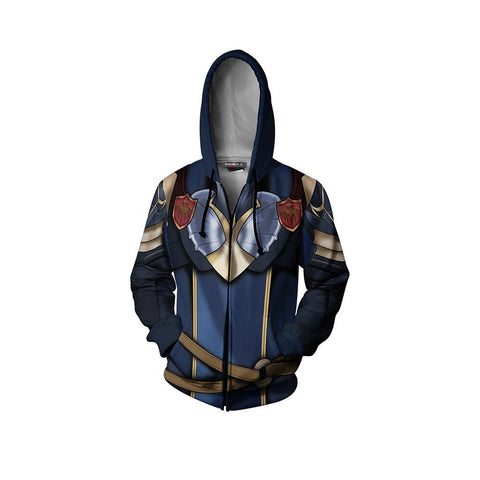 Fire Emblem Brave Lucina Hoodie Cosplay Jacket Zip Up