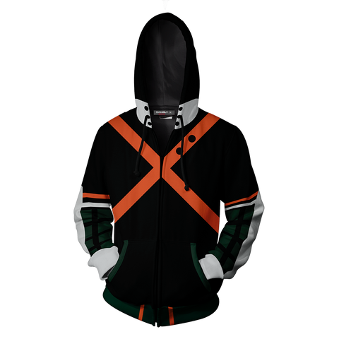 Boku No Hero Academia Katsuki Bakugou Hoodie Cosplay Jacket Zip Up