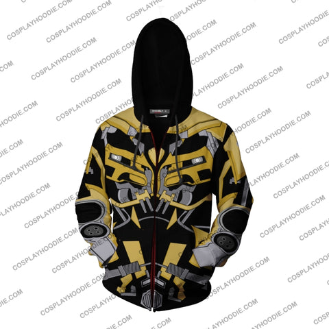 Image of Transformers Bumblebee Hoodie Cosplay Jacket Zip Up