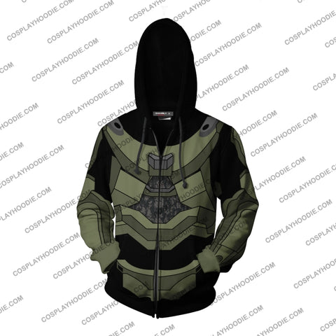 Halo Master Chief Hoodie Cosplay Jacket Zip Up